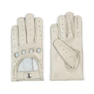 🤍🆕 Bone White Leather Gloves